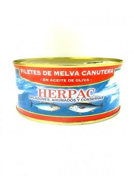 Filetes de melva canutera en aceite de oliva Herpac 1015 g
