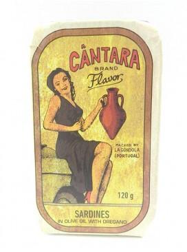 Sardinas en aceite de oliva y orégano Cántara 120 g