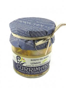 Lomos de Bonito del Norte en aceite de oliva ecológico Currimar 240 g