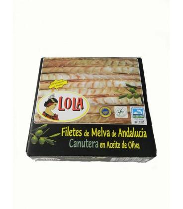 Filetes de Melva canutera de Andalucía IGP en aceite de oliva Lola 280 g