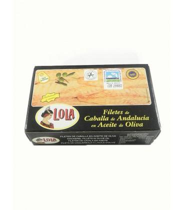 Filetes de caballa de Andalucía IGP en aceite de oliva Lola 125 g