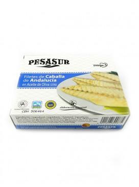 Filetes de caballa de Andalucía IGP en aceite de oliva Pesasur 260 g