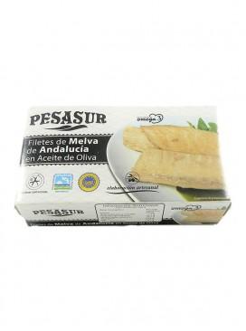 Filetes de melva de Andalucía IGP en aceite de oliva Pesasur 125 g
