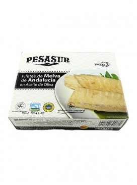Filetes de melva de Andalucía IGP en aceite de oliva Pesasur 260 g