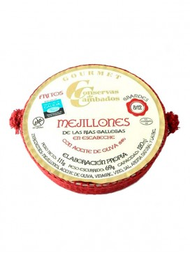 Mejillones en escabeche medianos Cambados Gourmet (8-12 uds) RO 120 g