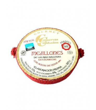 Mejillones en escabeche Cambados Gourmet (8-12 uds) 120 g