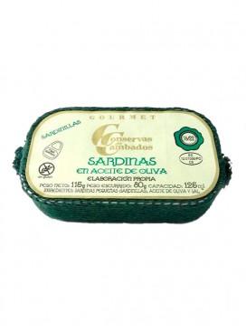 Sardinillas en aceite de oliva Cambados Gourmet (16-22 uds) 125 g