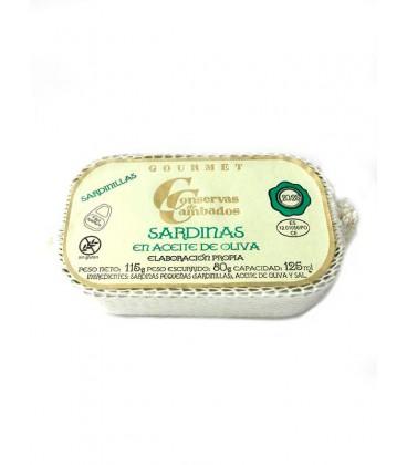 Sardinillas en aceite de oliva Cambados Gourmet (20/25) 125 g