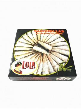 Sardinillas en aceite de oliva Lola (40-50 ud) 280 g
