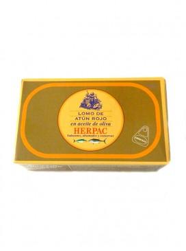 Lomo de atún rojo en aceite de oliva Herpac 120 g