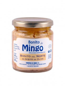 Bonito del Norte en aceite de oliva Mingo 240 g