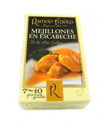 Mejillón grande en escabeche de aceite de oliva Ramón Franco (7-10 uds.) 115g