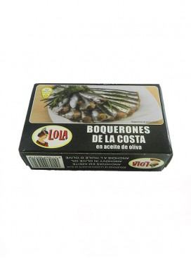 Boquerones de la costa en aceite de oliva Lola 115 g