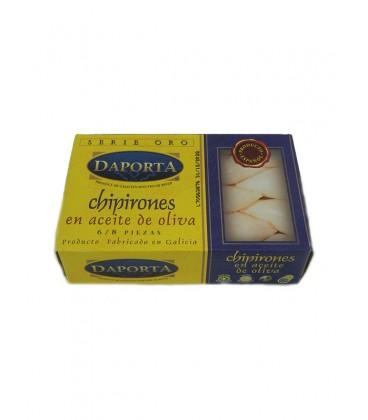 Chipirones rellenos en aceite de oliva (6-8 uds) Daporta 120 g