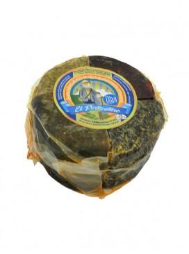 Queso artesanal semicurado de cabra mixto (comino, romero, pimentón y tomillo) El Porticatero