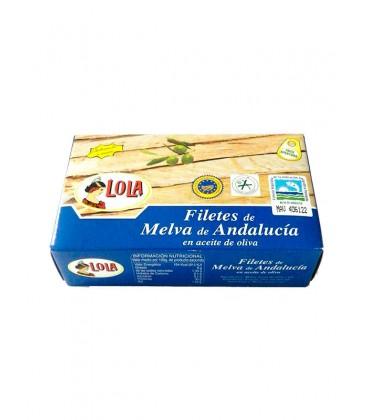 Filetes de melva de Andalucía IGP en aceite de oliva Lola 125 g