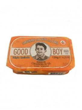 Sardinas en aceite de oliva con curry Good Boy 120 g