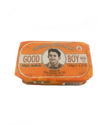 Sardinas en aceite de oliva con curry Good Boy 120 g