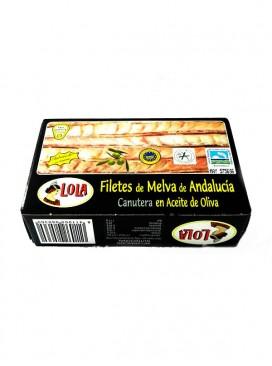 Filetes de Melva canutera de Andalucía IGP en aceite de oliva Lola 125 g
