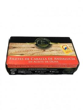 Filetes de caballa de Andalucía en aceite de oliva Conservera de Tarifa 125 g