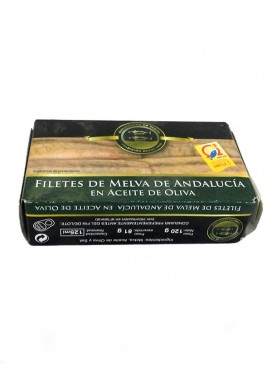 Filetes de melva de Andalucía en aceite de oliva Conservera de Tarifa 125 g