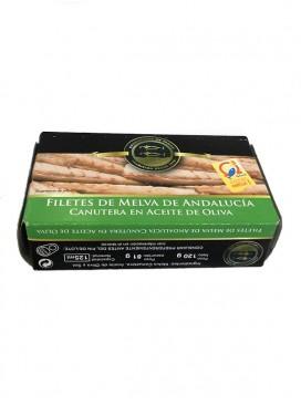 Filetes de melva canutera de Andalucía en aceite de oliva Conservera de Tarifa 125 g