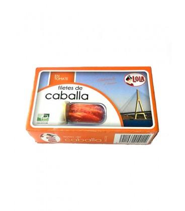 Filetes de caballa de Andalucía IGP en salsa de tomate Lola 125 g