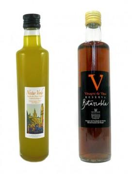 Pack Aceite Virgen Extra Ecológico y Vinagre Reserva 50 + 50 cl
