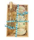 Embalaje en caja de madera para regalo