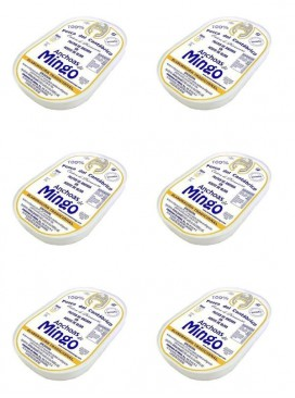 Anchoa del Cantábrico en aceite de oliva Mingo S. Oro (14 filetes) (Pack 6 latas)
