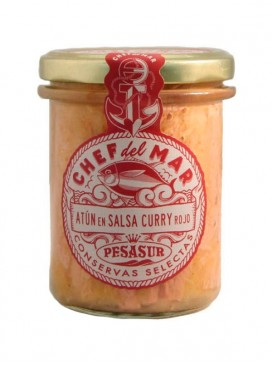 Atún en salsa de curry rojo Chef del Mar Pesasur 195 g