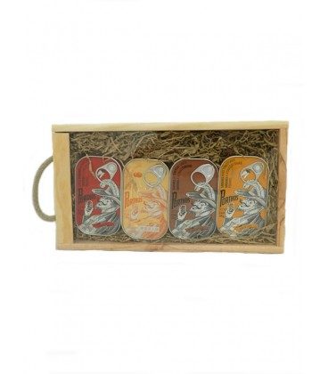 Pack de 4 latas de conserva Porthos Gourmet Vintage 125 g