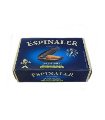Mejillón de las Rías Gallegas en escabeche picante Espinaler 120 g