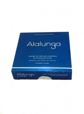Lomos de merluza europea en aceite de oliva Alalunga 138 g