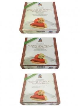 Pack 3 pimientos del piquillo rellenos Laurel (275 g x 3)