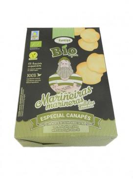 Galletas marineras canapés con aceite de oliva virgen extra Daveiga 100 g