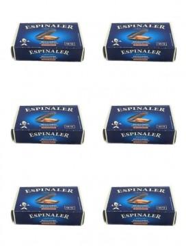 Mejillón de las Rías Gallegas en escabeche Espinaler (10-12 uds) 120 g (pack 6 latas) )