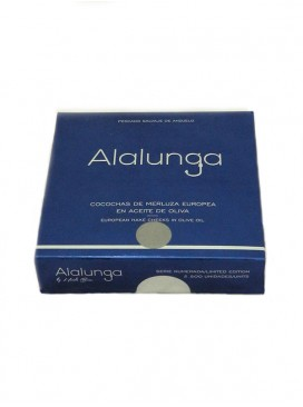 Cocochas medianas de merluza europa en aceite de oliva Alalunga 134 g