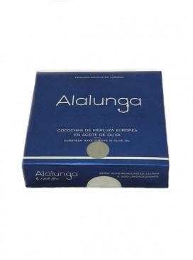 Cocochas pequeñas de merluza europa en aceite de oliva Alalunga 134 g