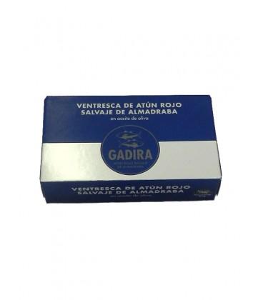 Ventresca de atún rojo salvaje de almadraba en aceite de oliva Gadira 120 g