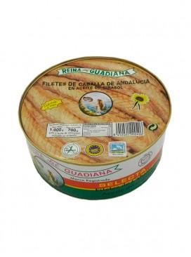 Filetes de caballa de Andalucía IGP en aceite de girasol Reina del Guadiana 1060 g