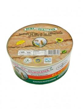 Filetes de melva de Andalucía IGP en aceite de girasol Reina del Guadiana 1060 g