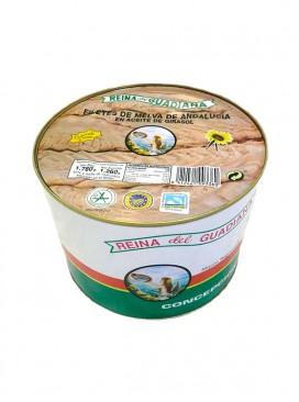 Filetes de melva de Andalucía IGP en aceite de girasol Reina del Guadiana 1800 g