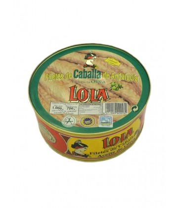 Filetes de caballa de Andalucía IGP en aceite de oliva Lola 1060 g
