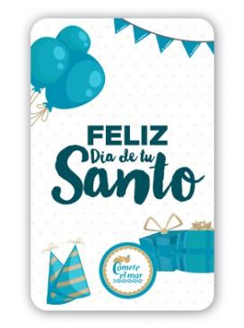 Tarjeta regalo Feliz día de tu santo