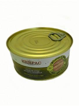 Lomo de atún de aleta amarilla en aceite de girasol Herpac 1015 g