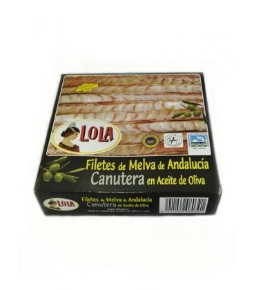 Filetes de Melva canutera de Andalucía IGP en aceite de oliva Lola 550 g
