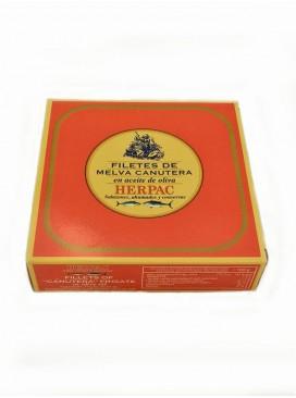 Filetes de melva canutera en aceite de oliva Herpac 525 g