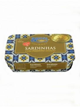 Sardinas en aceite de oliva con pimientos asados Briosa Gourmet 120 g