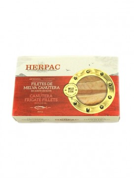 Filetes de melva canutera en aceite de oliva Herpac 120 g